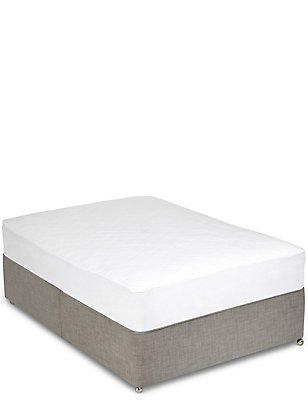 Anti-Allergy Mattress Protector, WHITE, catlanding