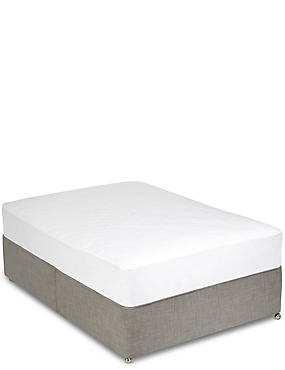 Anti Allergy Mattress Protector, WHITE, catlanding