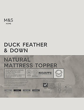 Duck Feather & Down Mattress Enhancer, WHITE, catlanding