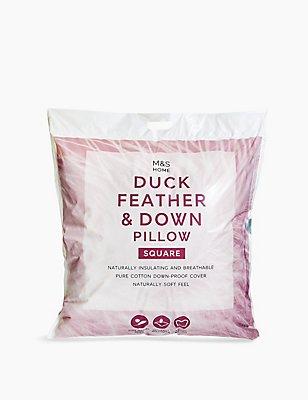 Duck Feather & Down Square Pillow, , catlanding