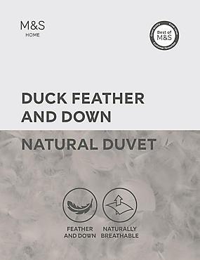 Duck Feather & Down 13.5 Tog Duvet, WHITE, catlanding