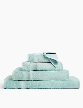 Luxury Egyptian Cotton Towel, DUCK EGG, catlanding