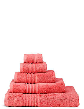 Luxury Egyptian Cotton Towel, SOFT CORAL, catlanding