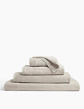 Luxury Egyptian Cotton Towel, STONE, catlanding