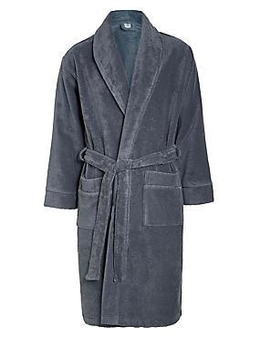 Robe de chambre unisexe 100% coton égyptien, CHARBON, catlanding