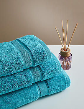 Supersoft Pure Cotton Towel, TEAL, catlanding