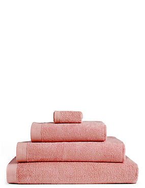 Pure Cotton Loft Towel, BLUSH, catlanding