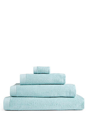 Pure Cotton Loft Towel, DUCK EGG, catlanding
