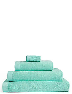 Pure Cotton Loft Towel, MINT, catlanding