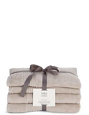4 Piece Lightweight Egyptian Towel Bale, LINEN, catlanding