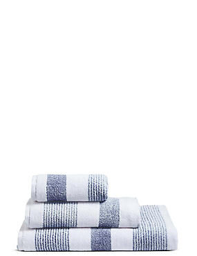 Hadley Striped Towels, SOFT BLUE MIX, catlanding