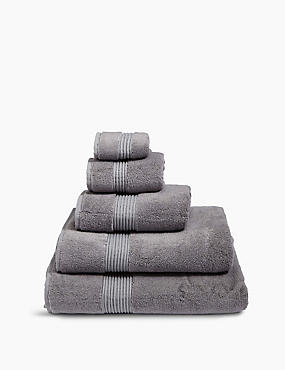 Luxury Cotton Blend Towels  , SMOKE, catlanding