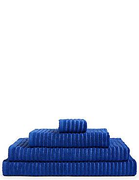 Quick Dry Ribbed Towel, COBALT, catlanding