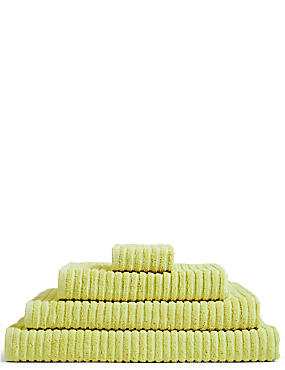 Quick Dry Ribbed Towel, LIME, catlanding