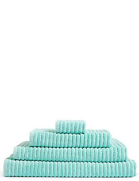 Quick Dry Ribbed Towel, AQUA, catlanding