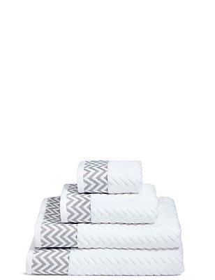 Zigzag Towel, WHITE MIX, catlanding