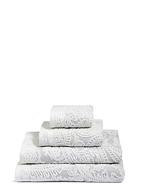 Paisley Embossed Cotton Towel, GREY MIX, catlanding