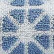 Geometric Print Star Towel, BLUE, swatch