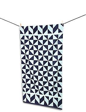 Geometric Print Beach Towel, , catlanding