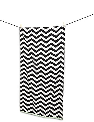 Chevron Print Beach Towel, , catlanding
