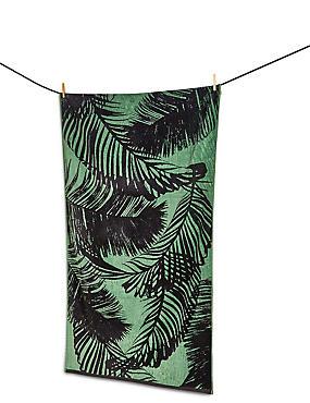 Palm Jacquard Beach Towel, , catlanding