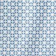 Coastal Geometric Shower Curtain, BLUE MIX, swatch
