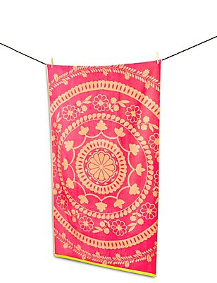 Frida Lace Beach Towel, , catlanding