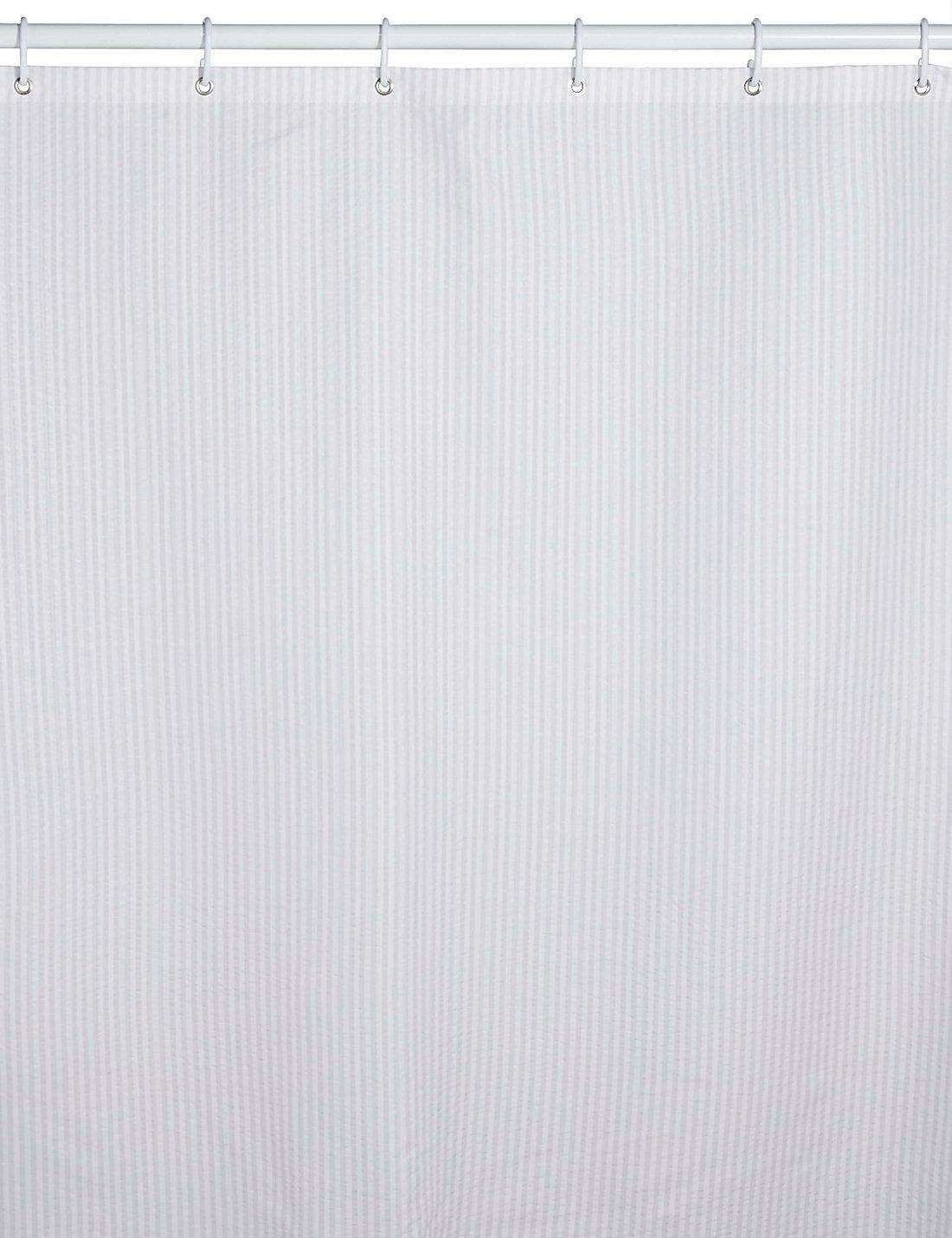 Elegant Pinstripe Seersucker Shower Curtain