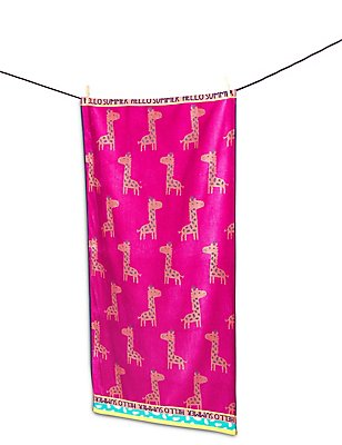 Animal Print Kids Beach Towel , , catlanding