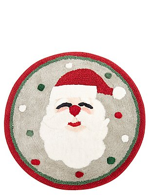 Badmat met kerstmanmotief, , catlanding