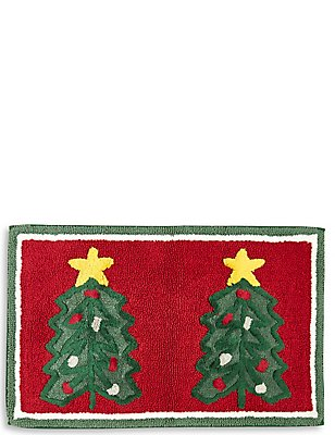 Christmas Tree Bath Mat, , catlanding