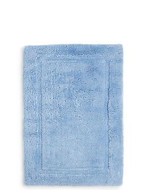 Pure Egyptian Cotton Bath & Pedestal Mats, CHAMBRAY, catlanding