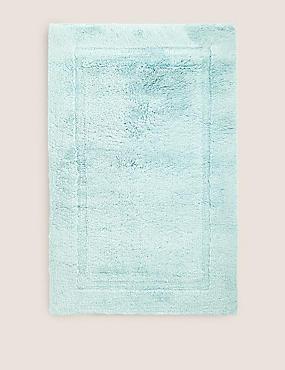 Pure Cotton Bath Mat, DUCK EGG, catlanding