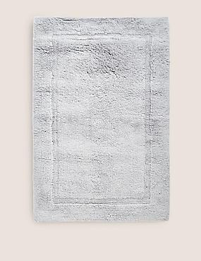 Pure Cotton Bath Mat, SILVER GREY, catlanding