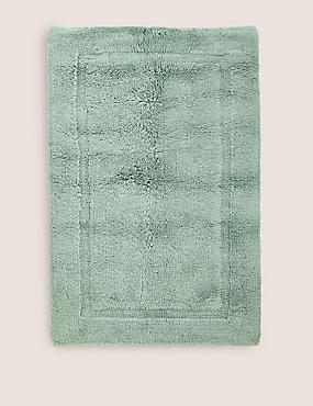 Pure Cotton Bath Mat, SOFT GREEN, catlanding