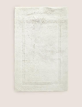 Pure Cotton Bath Mat, PEARL GREY, catlanding