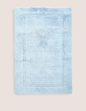 Pure Cotton Bath Mat, CHAMBRAY, catlanding