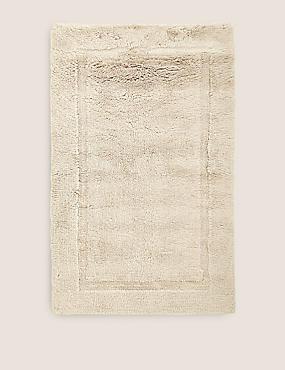 Pure Cotton Bath Mat, STONE, catlanding