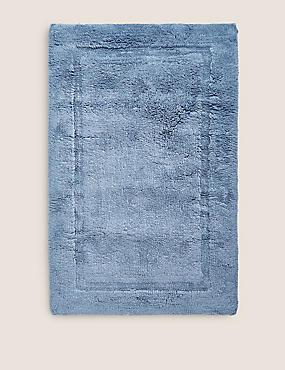 Pure Cotton Bath Mat, PETROL, catlanding