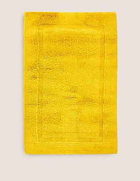 Pure Cotton Bath Mat, MUSTARD, catlanding