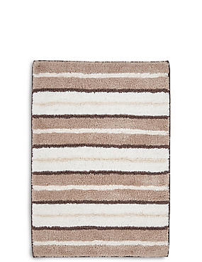 Spa Striped Bath & Pedestal Mats, MOCHA MIX, catlanding