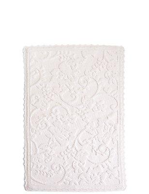 Dovecote Floral Mat, WHITE, catlanding