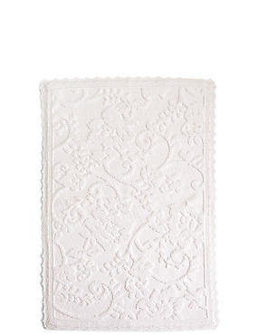 Dovecote – Tapis à motif fleuri, BLANC, catlanding