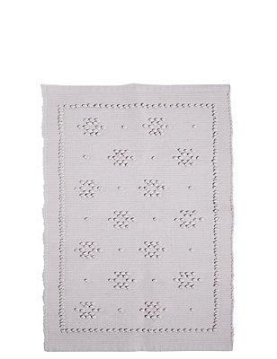 Pure Cotton Pom-Pom Mat, GREY, catlanding