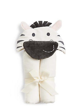 Zebra Hooded Towel, BLACK MIX, catlanding