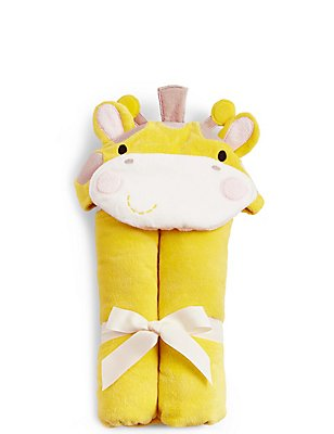 Giraffe Hooded Towel, YELLOW MIX, catlanding