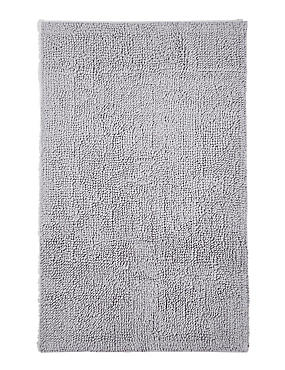 Soft Cotton Bobble Bath & Pedestal Mats, SILVER GREY, catlanding