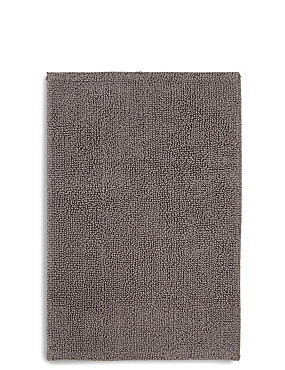 Soft Cotton Bobble Bath & Pedestal Mats, CHARCOAL, catlanding
