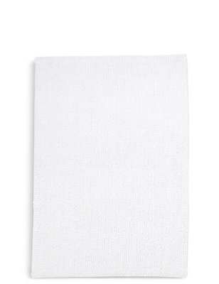 Soft Cotton Bobble Mat & Pedestal Mats, WHITE, catlanding