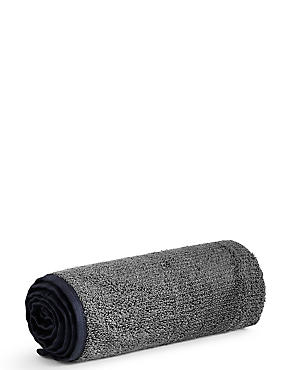 Small Gym Towel, BLACK, catlanding